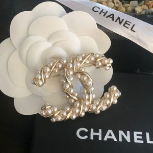 Chanel Authentic Brooch box and pouch included